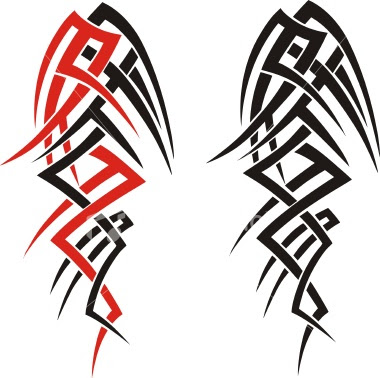 black & red tribal tattoos