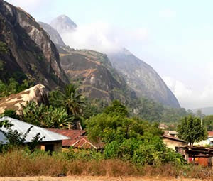 Idanre hills landscape present spectacular view of the new town