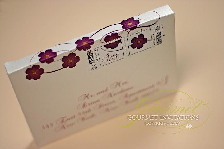 Embellished Gate Fold Silk Wedding Invitation Box 5 5x7 5x1 Inch In Icy Blue