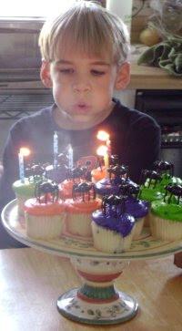 Li'l Man blows out the candles