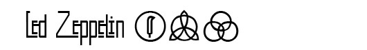 Kashmir font logo Led Zeppelin