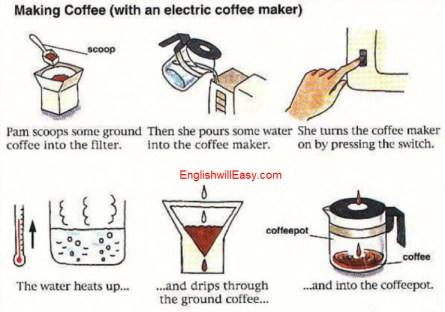 صنع القهوة (مع صانع القهوة الكهربائية)