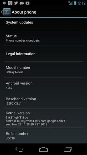 Cara Update Jelly Bean 4.2.2 Galaxy Nexus i9250 GSM