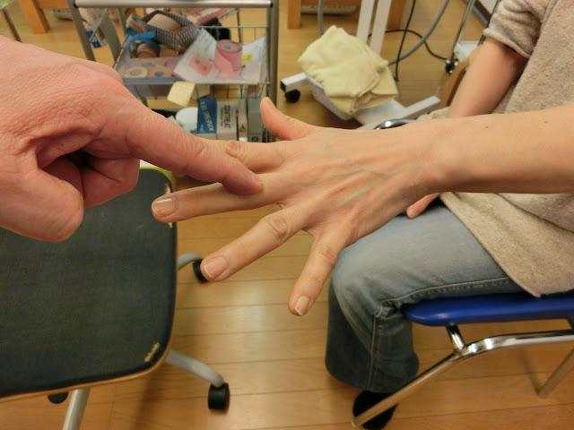 指を一本一本テスト