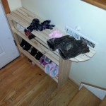 I made a shoe rack for behind the front door