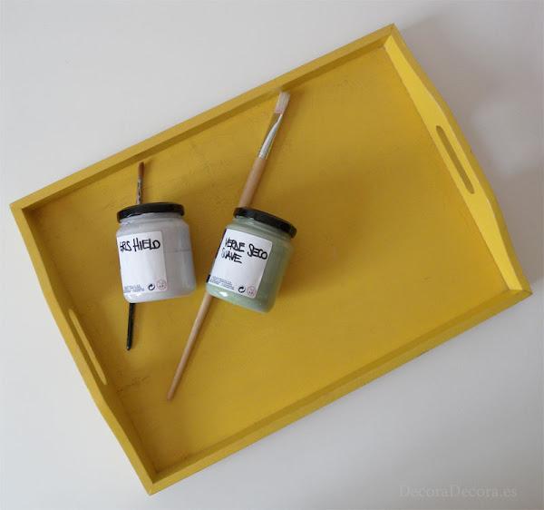 Pintar una bandeja con chalk paint
