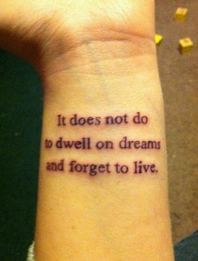 quote wrist tattoos