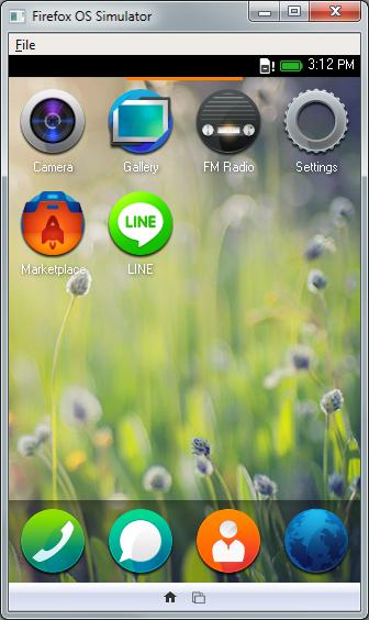 ติดตั้งและใช้งานผ่าน Firefox OS Simulator ได้ด้วย โดยไม่ต้องมีมือถือจริง ๆ