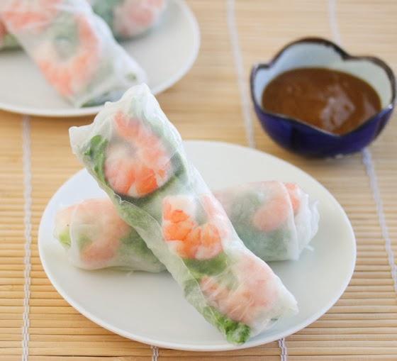 fresh vietnamese shrimp spring rolls