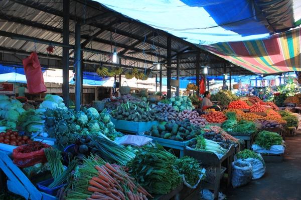 Sayur Mayur di Pasar Berastagi