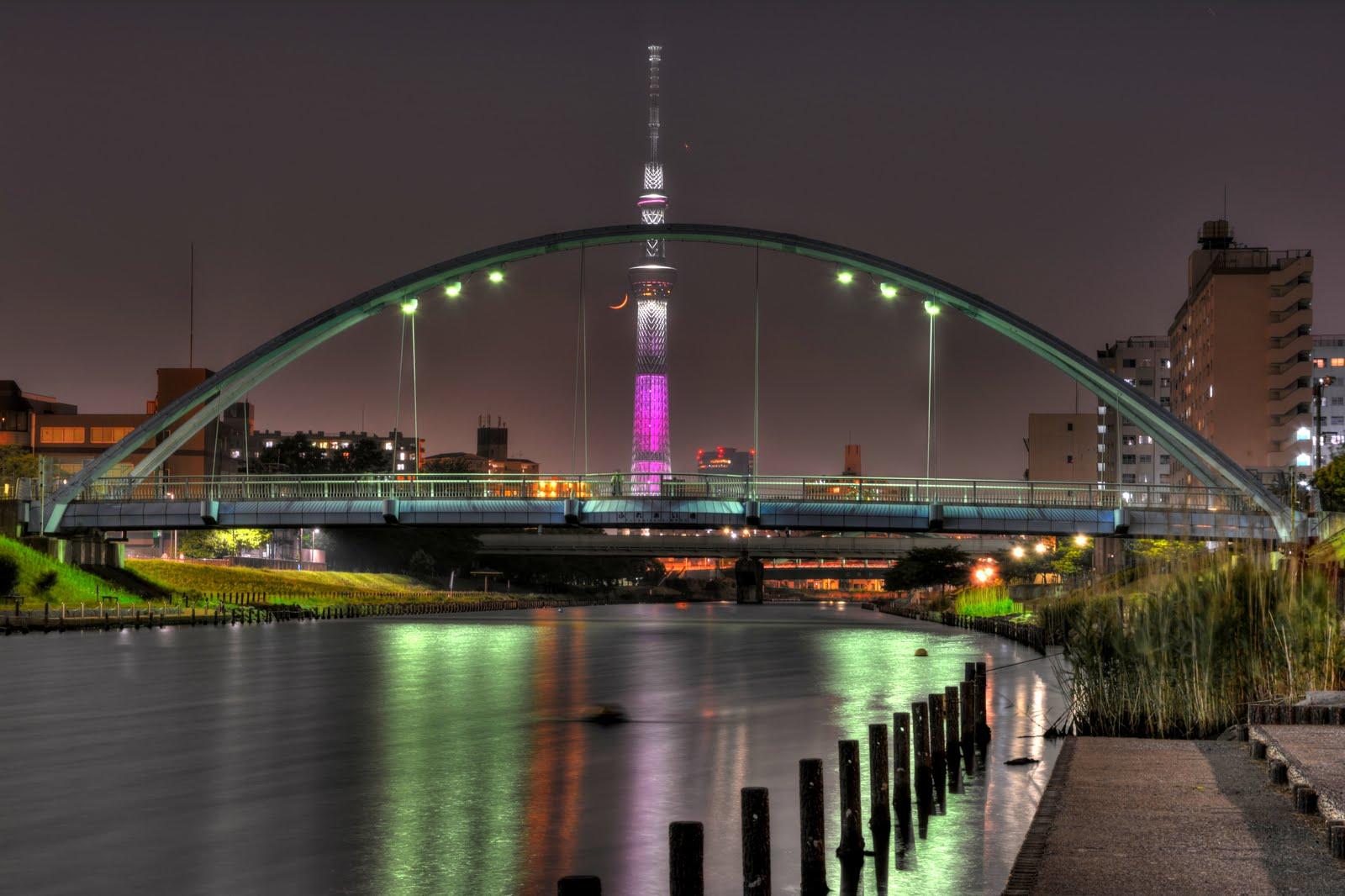 HDRTS -hdr&tiltshift- 江戸川區ふれあい橋からの夜景