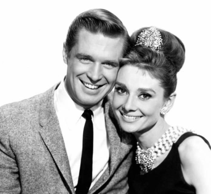 George Peppard y Audrey Hepburn