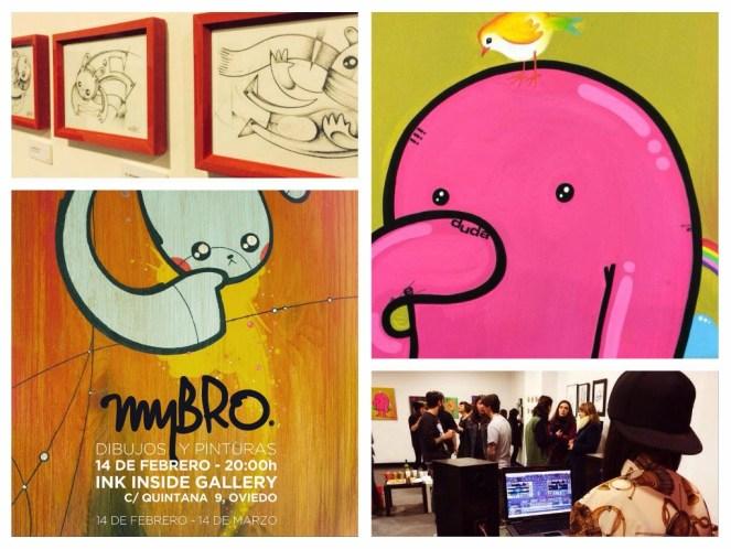MYBRO. Dibujos y pinturas. Ink Inside Gallery