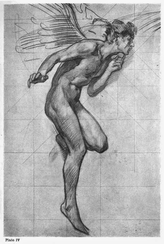 Plate IV. STUDY ON TISSUE-PAPER IN RED CHALK FOR FIGURE OF BOREAS