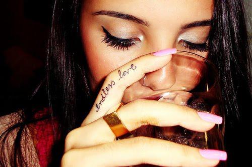 quotes finger tattoos