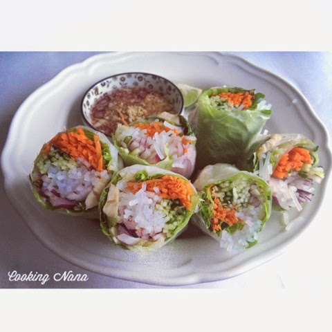 Cooking Nana: 越南雞肉米紙卷 Vietnamese rice paper roll with chicken