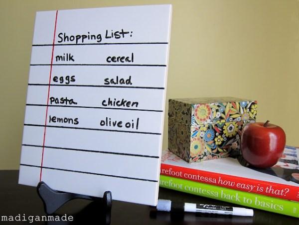 loose leaf dry erase memo from tile