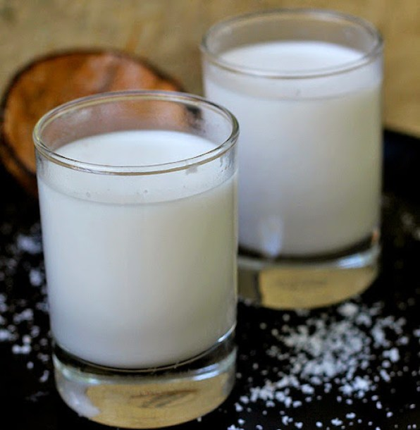 How to make Coconut Milk Recipe | DIY Homemade Coconut Milk written by Kavitha Ramaswamy of Foodomania.com