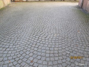 Cobblestone pathways all over the city