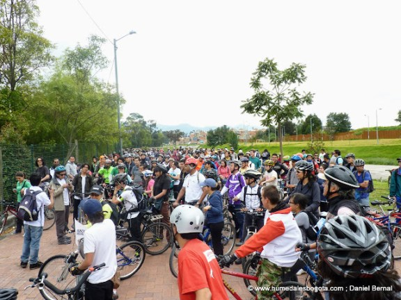 BiciCaravana Humedales Bogotá
