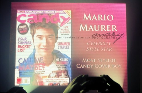Candy Style Awards 2012 - Rockwell Tent, Makati City - May 4, 2012 - Mario Maurer Most Stylish Candy Cover Boy