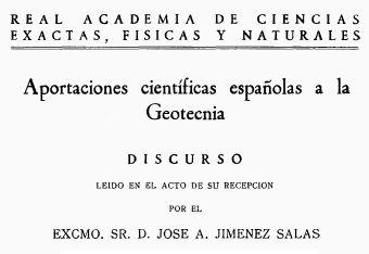 Jiménez Salas – Aportaciones científicas españolas a la Geotecnia