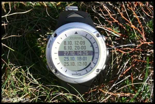 Suunto Ambit Mode Journal
