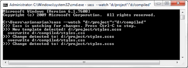 Sass Compiling