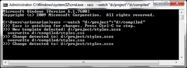 Sass Compiling