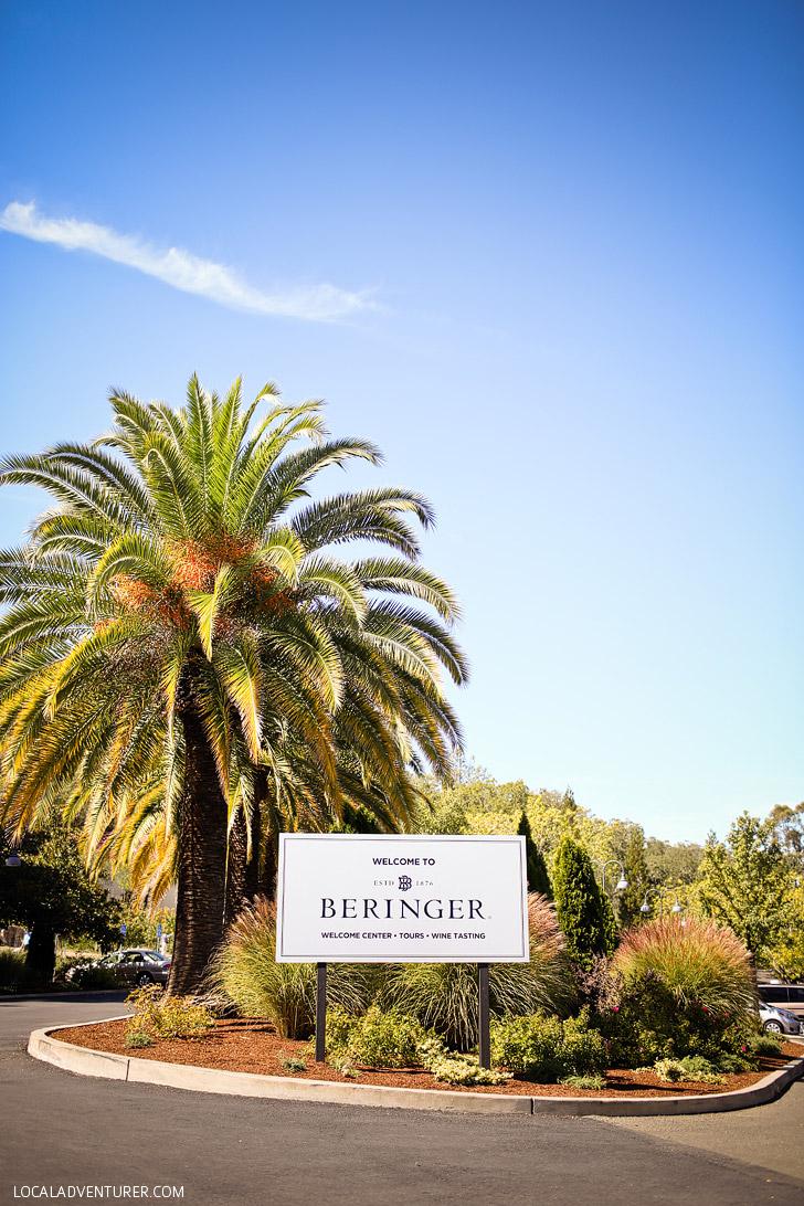 Beringer Winery and Vineyards (Best Wineries in Napa Valley CA).