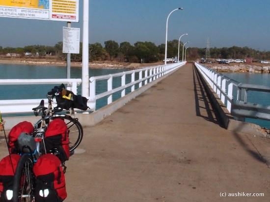 Mandorah Ferry pier ... ready to head off into the wild blue yonder