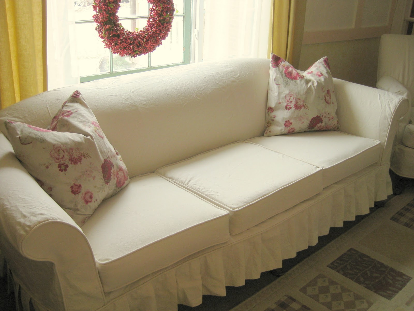 Cream Duck Cloth Slipcovers Slipcovers by Shelley