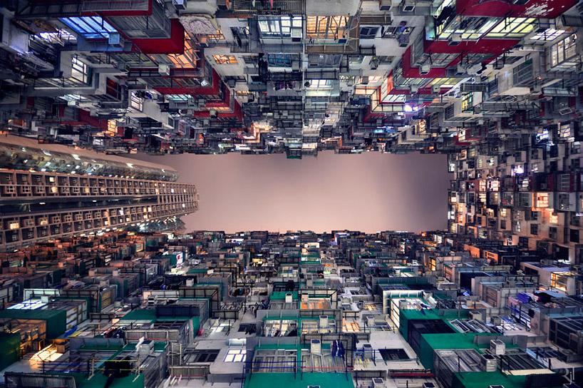 *垂直地平線:藝術家 Romain Jacquet-Lagreze 90度香港仰空攝影作品! 1