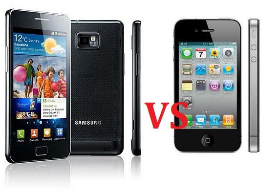 iPhone 4S vs Samsung Galaxy S II