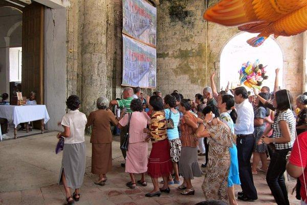 в церкви на реке Лобок