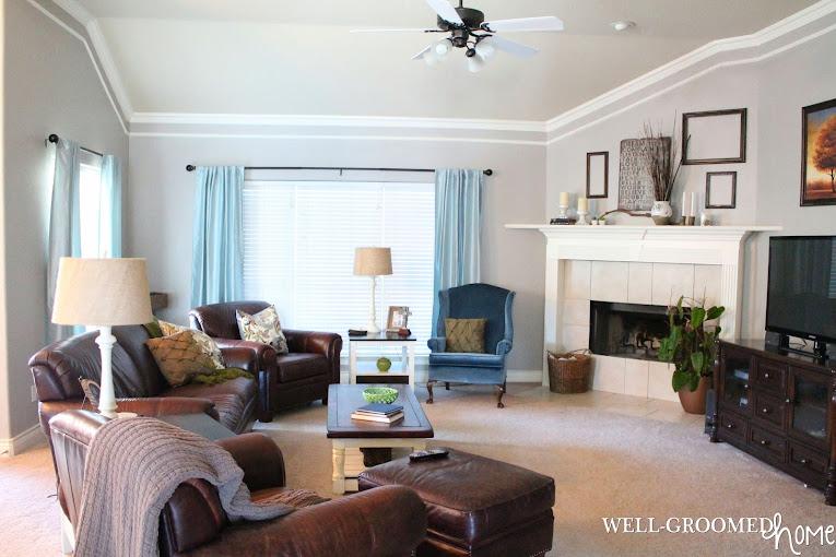 Living Room Amp Greige Paint Update Well Groomed Home