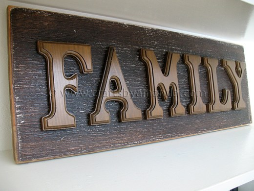 Wooden Letter Family Sign   Crafts by Amanda Wooden Letter Family Sign