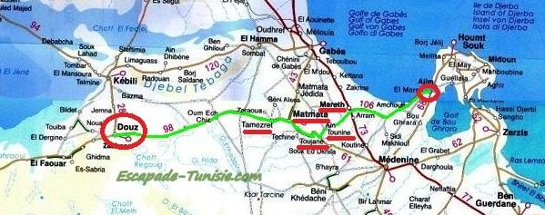 escapade tunisie : autotour djerba douz