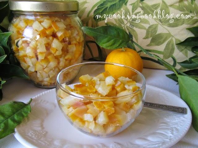 Захаросани портокалови корички на парченца