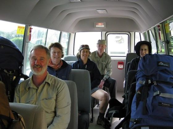 Perth Bushwalkers Crew on the Turner Campsite Bus heading out to the Cape Leeuwin Trailhead - Cape to Cape Track