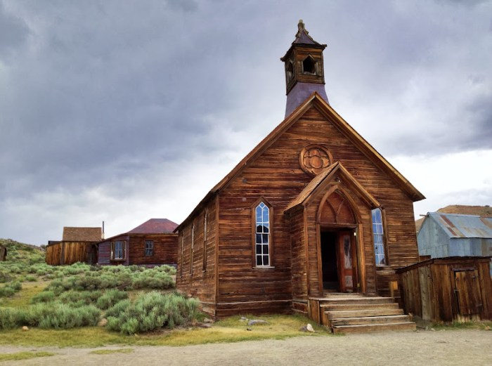 The only church standing in Bodie, California