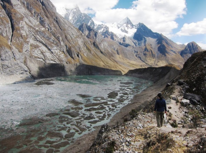 Side trip to see the ice lake on Huayhuash Trip