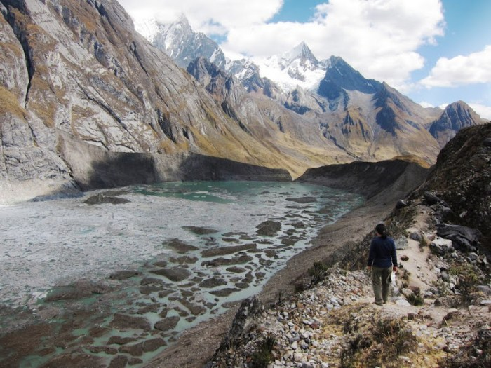 Side trip to see the ice lake on Huayhuash Trip