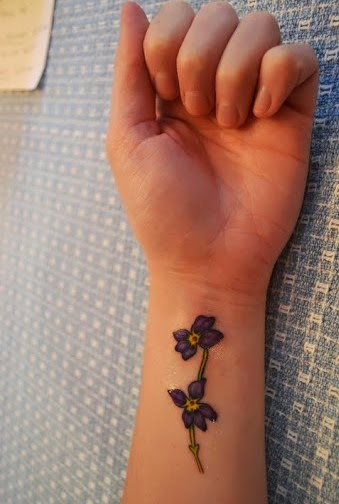 flower cute wrist tattoos