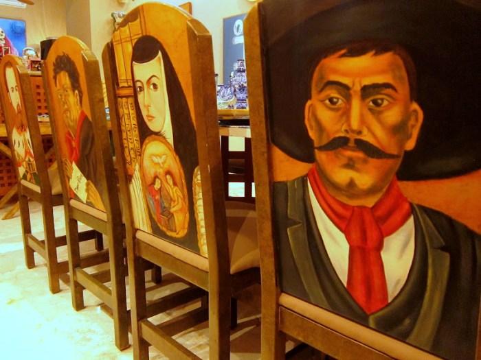 Close up view of the dining room chair in La Casa de Los Venados