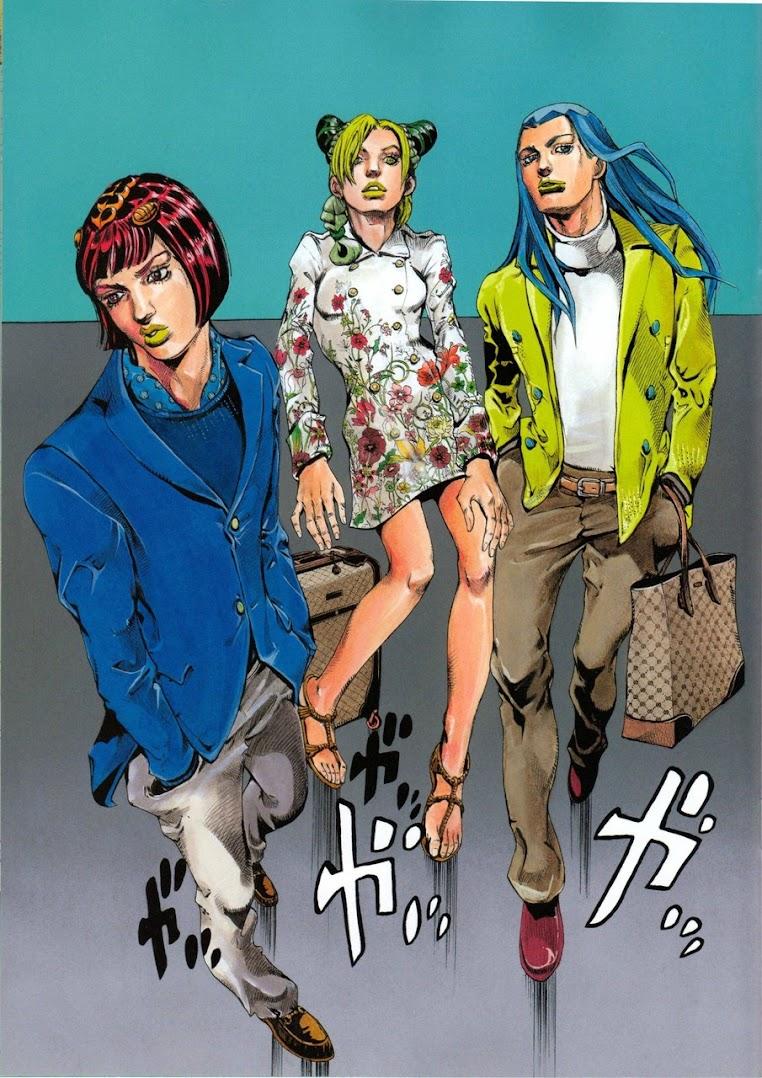 *JOJO的奇妙冒險再度與GUCCI 打造新時尚漫畫空間:空条徐倫飛舞古馳 2013 4