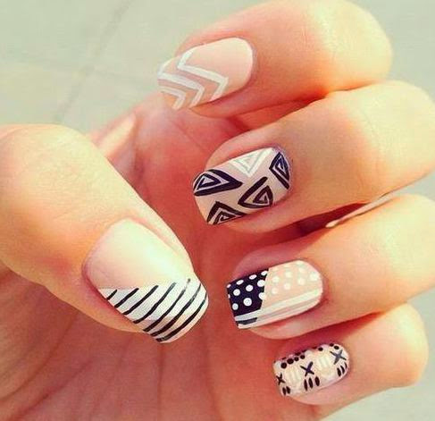 Black and White Nail Art  35 Beautiful Black & White Nail Art Designs and Ideas 2017 Black 2520and 2520White 2520Nail 2520Art 2520Designs 252020