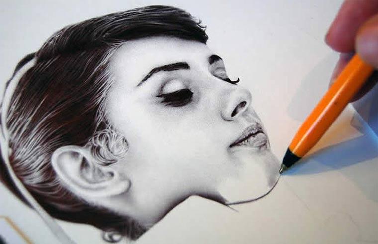 *藝術家James Mylne鋼珠原子筆名人寫真:栩栩如生! 6