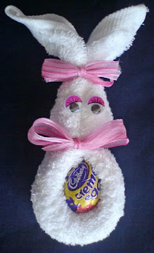 Washcloth Easter Bunnies
