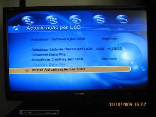 azbox evoxl menu